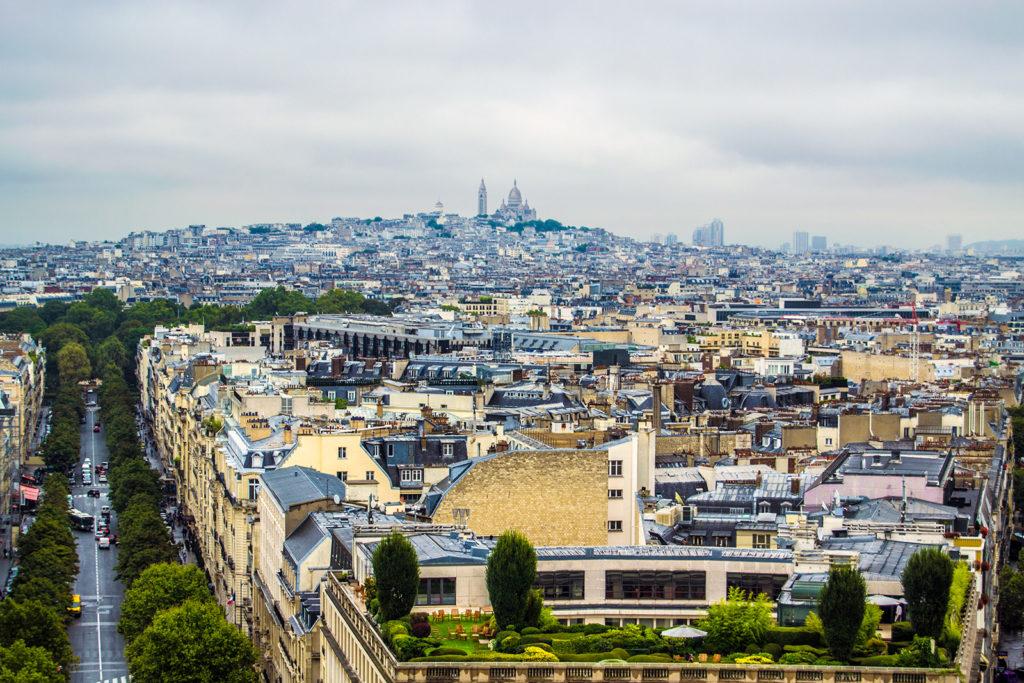 Vistas desde el Arco del Triunfo de Montmartre – París Pass de dos días