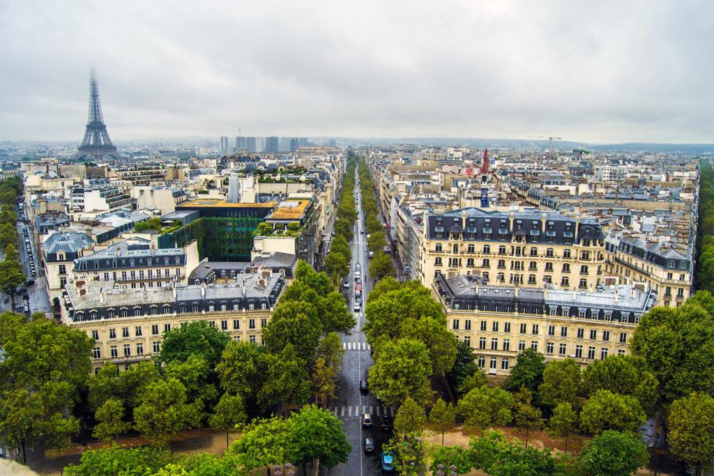 Vistas desde el Arco del Triunfo de la Torre Eiffel – París Pass de dos días