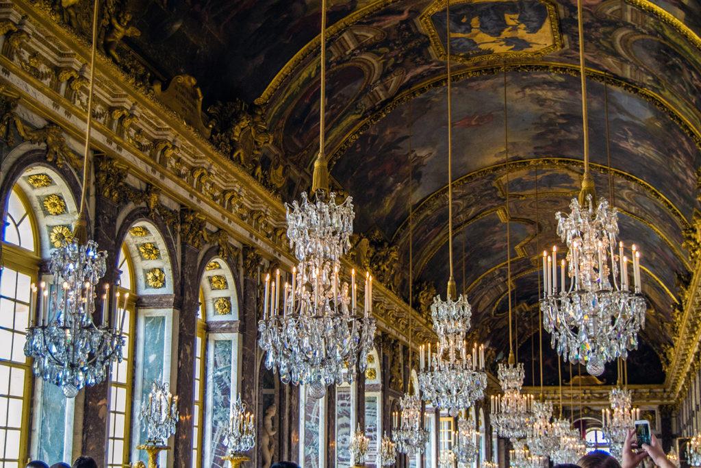 Lámparas de la Sala de los Espejos – Aposentos privados del Palacio de Versalles