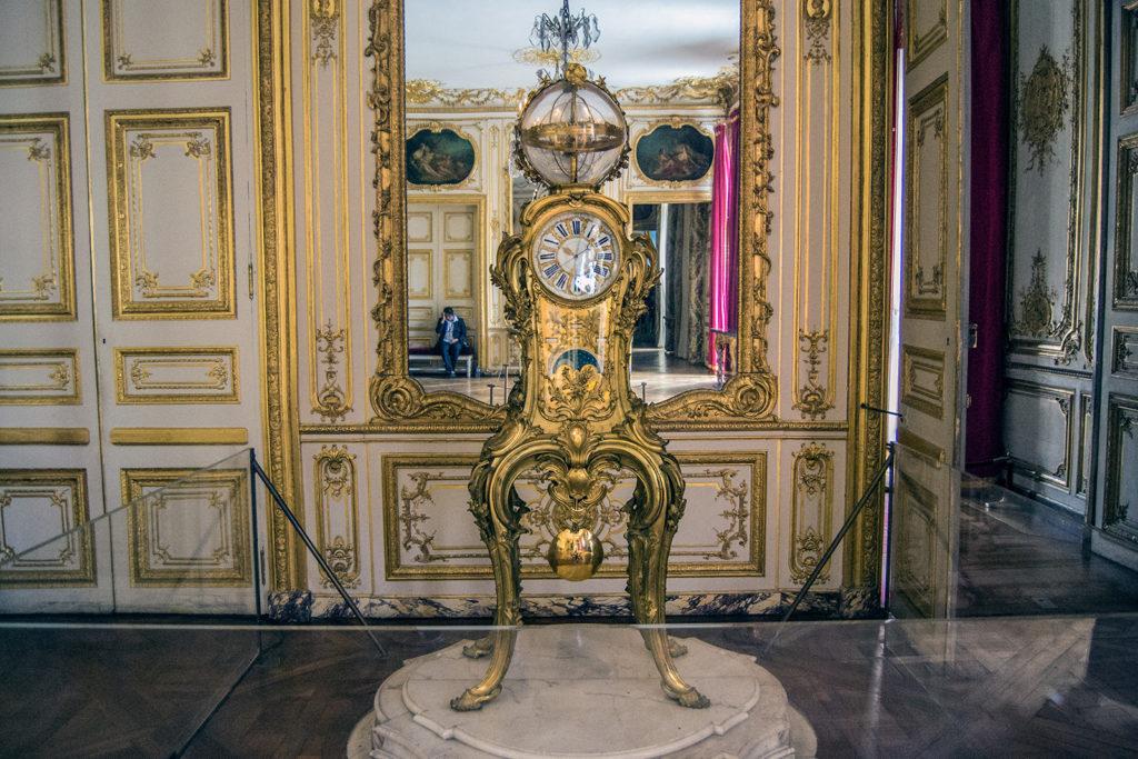 Reloj astronómico de la Sala de los Conciertos – Aposentos privados del Palacio de Versalles