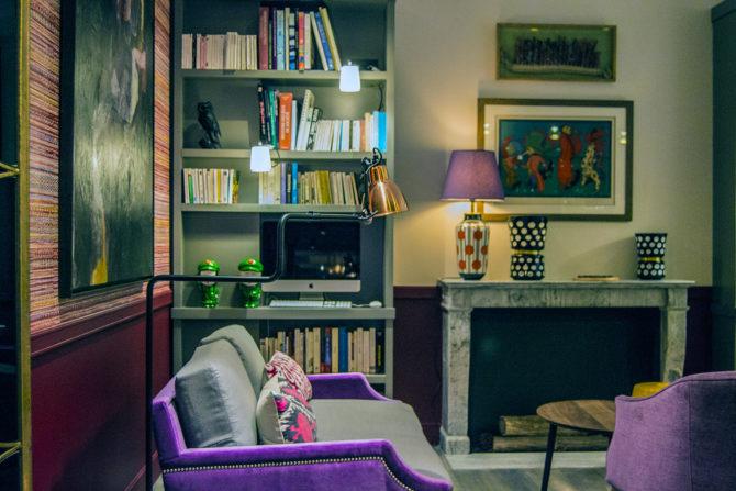 Zona común de descanso del Hotel Adèle & Jules - Versalles desde París