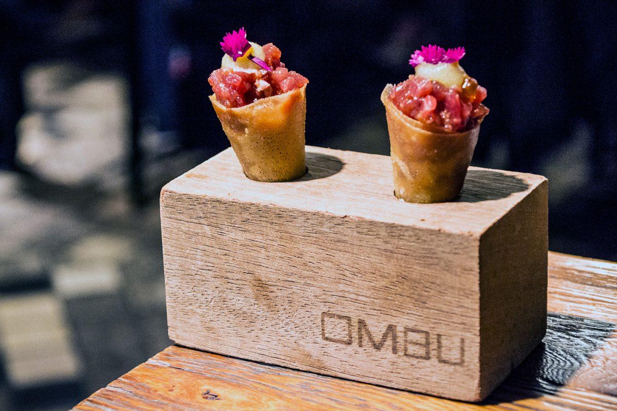 Mini cornete de atún, wasabi y manzana ácida - Restaurantes Mallorca