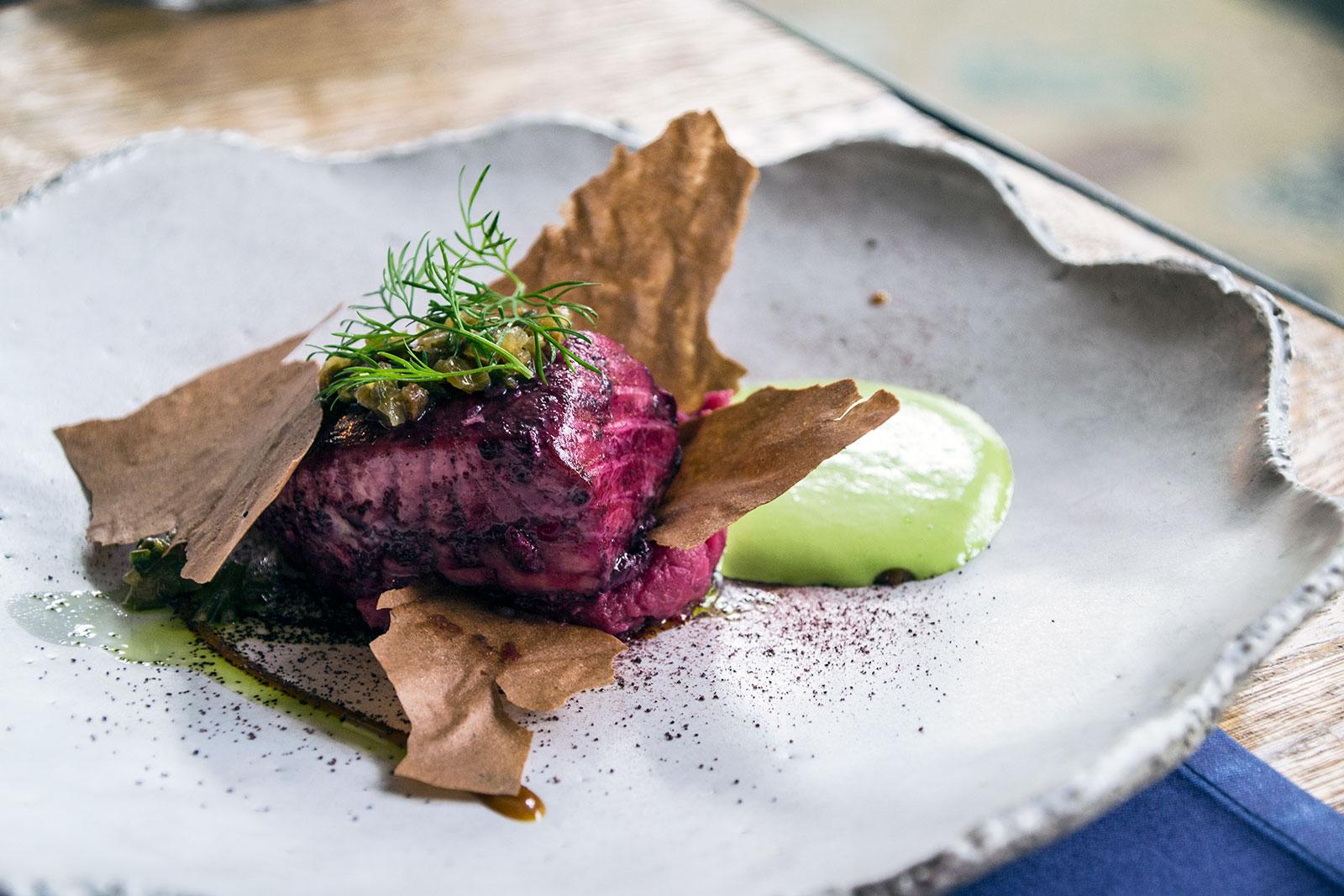 Trucha atlántica con brandada escandinava y mousse de eneldo - Restaurantes Mallorca