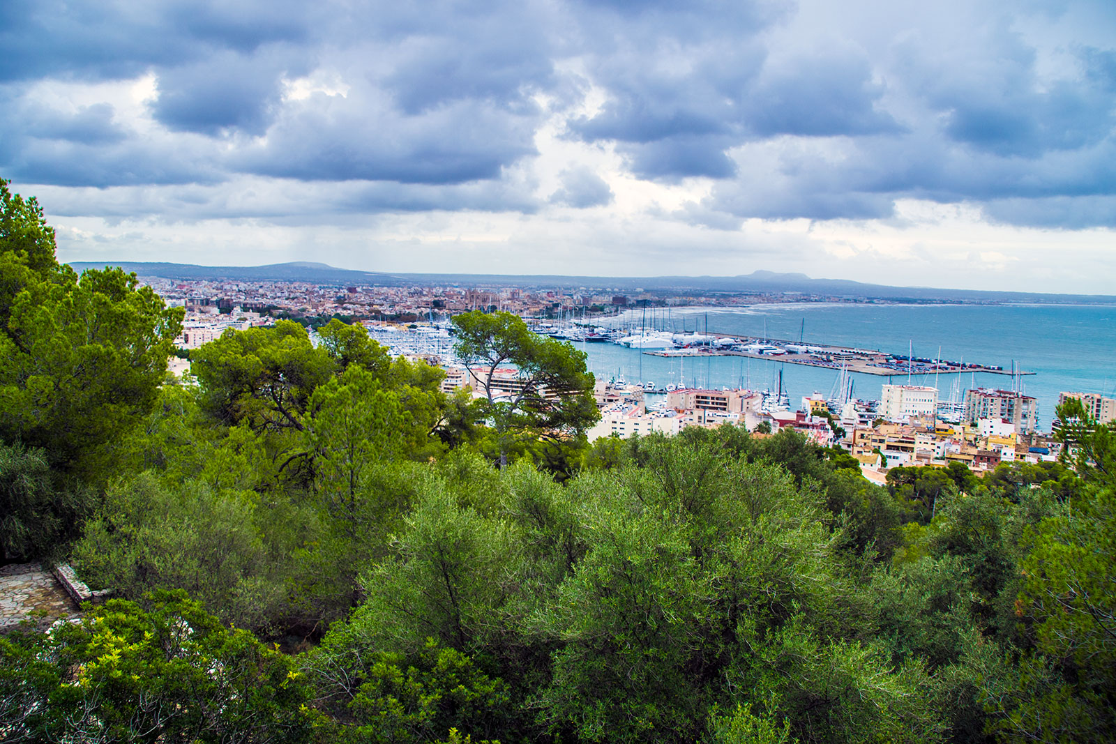 Vistas desde el castillo de Bellver - qué ver en Mallorca